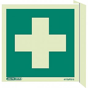 Double-side First Aid Signs