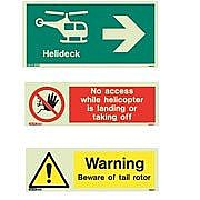 Helideck Safety Signs