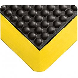 Anti-fagitue Bubble Mat Black with Yellow Boarder