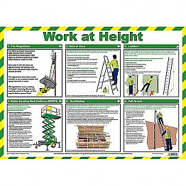 Work At Height Poster A2