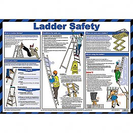 Ladder Safety Poster A2
