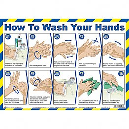 How To Wash Your Hands Poster A3