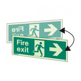 Double sided fire exit right
