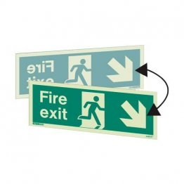 Double sided fire exit down right