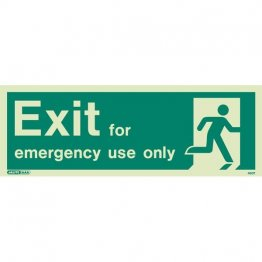 Exit Emergency Use Only 460