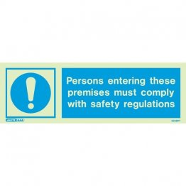 Persons Entering With Safety Regulations 5236