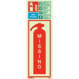 ABC Powder Extinguisher Missing 6396