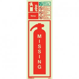 Water Extinguisher Missing 6399