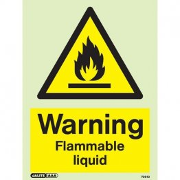 Warning Flammable Liquid 7061