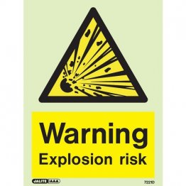 Warning Explosion Risk 7221