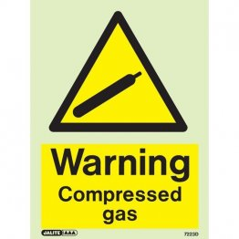 Warning Compressed Gas 7223