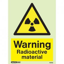Warning Radioactive Material 7270