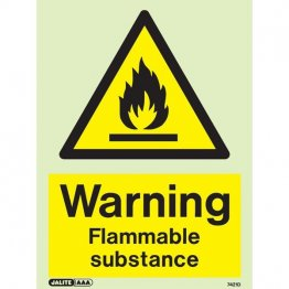Warning Flammable Substance 7421