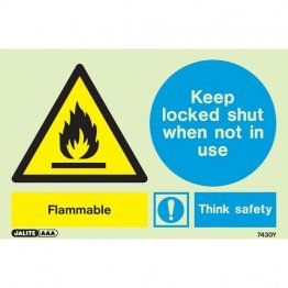 Warning Flammable Think Safety 7430