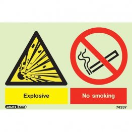 Warning Explosive No Smoking 7433