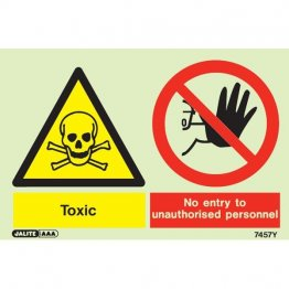 Warning Toxic Wear Respirator 7461