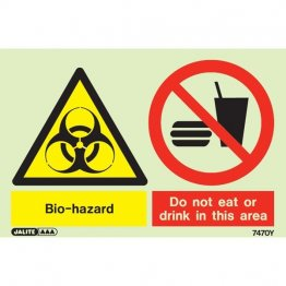 Biohazard Do Not Eat Or Drink 7470
