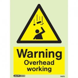 Warning Overhead Working 7497