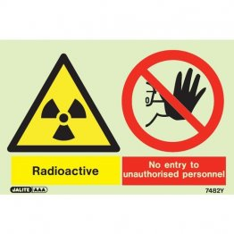 Warning Radioactive No Entry Unauthorized Personnel 7482