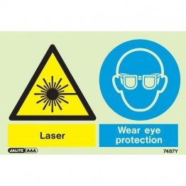 Warning Laser Wear Eye Protection 7487
