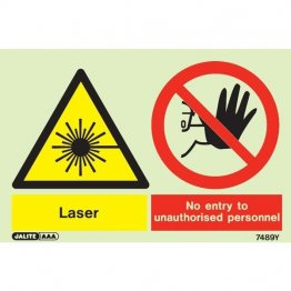 Warning Laser No Entry Unauthorized Personnel 7489