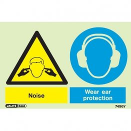 Warning Noise Wear Ear Protection 7496