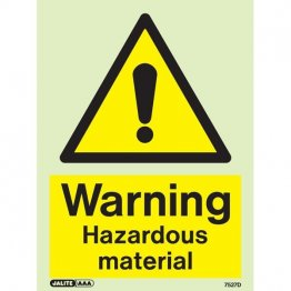 Warning Hazardous Material 7527