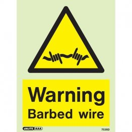 Warning Barbed Wire 7536