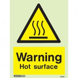 Warning Hot Surface 7561