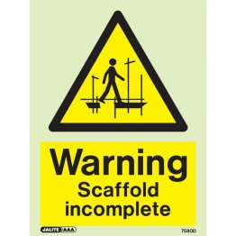 Warning Scaffold Incomplete 7580