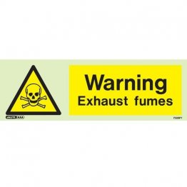 Warning Exhaust Fumes 7589