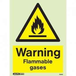 Warning Flammable Gases 7590