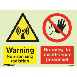 Warning Non Ionising Radiation No Entry 7592