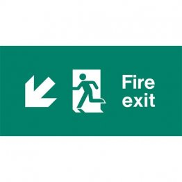 Emergency Light Legend Fire Exit Ahead Pack of 10 EL433