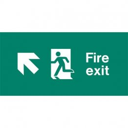 Emergency Light Legend Fire Exit Ahead Pack of 10 EL434