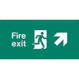 Emergency Light Legend Fire Exit Ahead Pack of 10 EL438