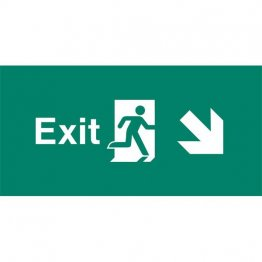 Emergency Light Legend Exit Ahead Pack of 10 EL448
