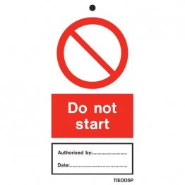 Do Not Start Labels Pack of 10 TIE005