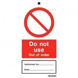 Do Not Use Out Of Order Labels Pack of 10 TIE008
