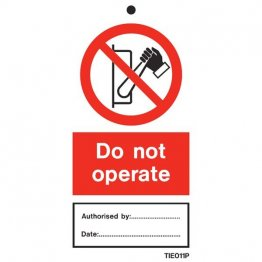 Do Not Operate Labels Pack of 10 TIE011