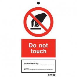 Do Not Touch Labels Pack of 10 TIE012