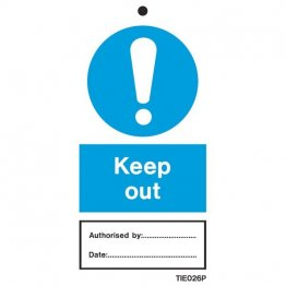 Keep Out Labels Pack of 10 TIE026