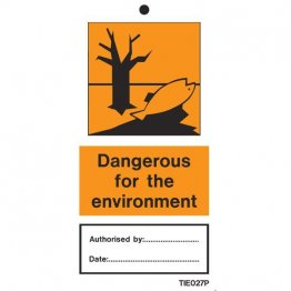 Dangerous For Environment Labels Pack of 10 TIE027