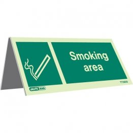 Tabletop Smoking Area Pack of 5 TT3655-1