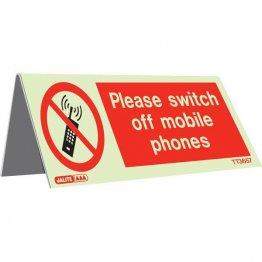 Tabletop Switch Off Mobile Pack of 5 TT3655-7