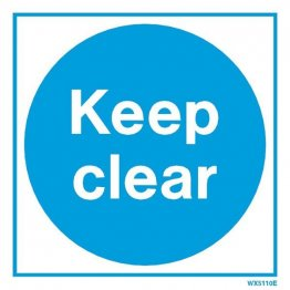 White Keep Clear WX5110