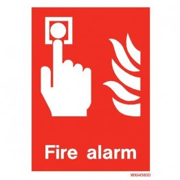 White Fire Alarm WX6450