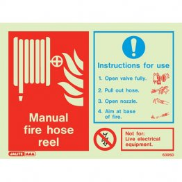 Manual hose reel instruction 6395D
