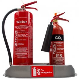 Double extinguisher plinth silver