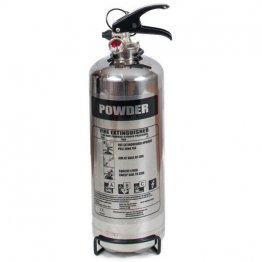 Chrome 2kg powder fire extinguisher